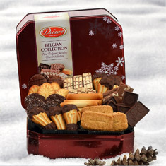 Delacre Belgian Chocolate Cookie Gift Tin