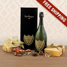 Dom P�rignon & Truffles Gift Basket