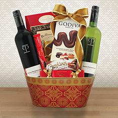 Double Treasures Wine Duo Gift Basket