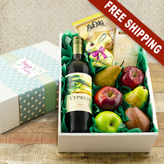 Easter Celebration Red Wine & Fresh Fruit Gift Box