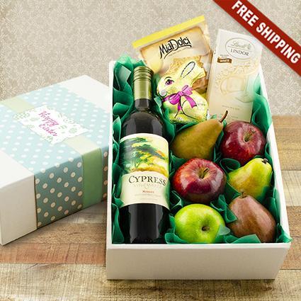 Easter Celebration Red Wine Gift Basket