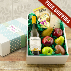 Easter Delight White Wine & Fresh Fruit Gift Box