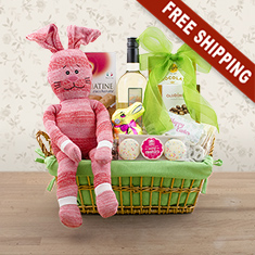 Easter Festivities White Wine Gift Basket