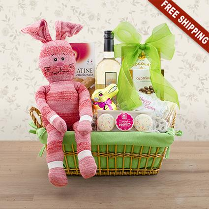 Easter festivities white wine gift basket capalbos gift baskets easter festivities white wine gift basket negle Image collections