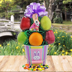 Easter Fruit Pail Gift Basket