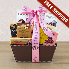 Easter Godiva Chocolate Festival Gift Basket
