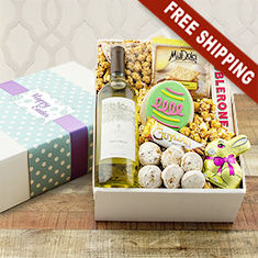 Easter Greetings White Wine Gift Box