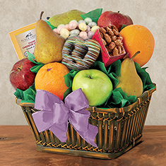 Easter Harvest Bounty Fruit Gift Basket
