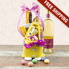 Easter Joy White Wine Gift Bag