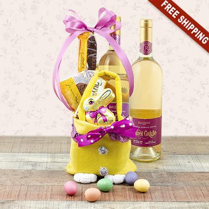 Easter Joy White Wine Gift Bag