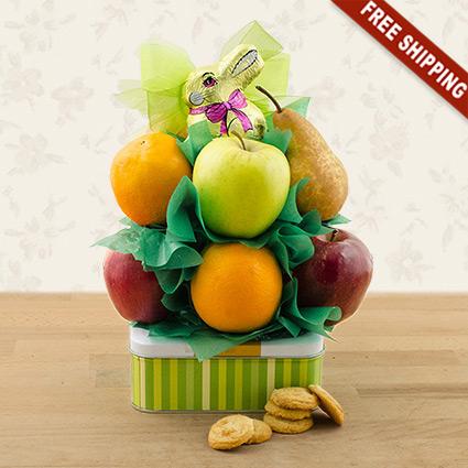 Easter Cookies N' Fruit Basket