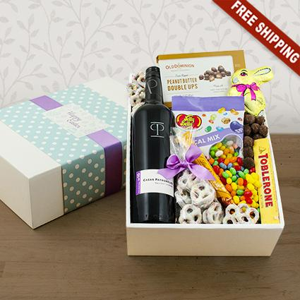 Easter Delight Red Wine Gift Box