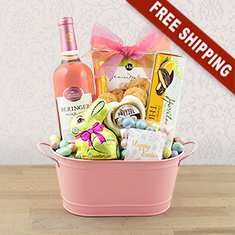 Easter Fun Times Wine & Gourmet Gift Basket