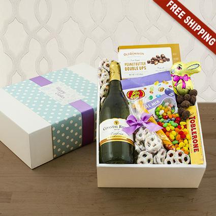 Easter Greetings White Wine Gift Box