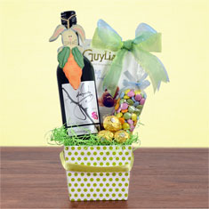Easter Joy Red Wine Gift Basket