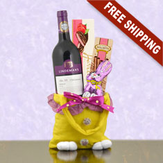 Easter Joy Red Wine Gift Bag