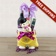Easter Joy Red Wine Gift Bag