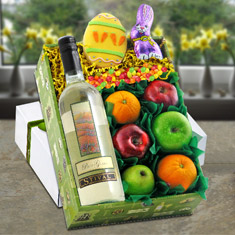 Easter White Wine & Fruit Gift Box