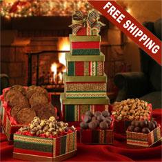 Fantastic 5-Box Gourmet Gift Tower