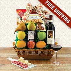Festa Italiana Chianti & Fruit Gift Basket