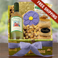 For You, Mom White Wine & Gourmet Gift Box