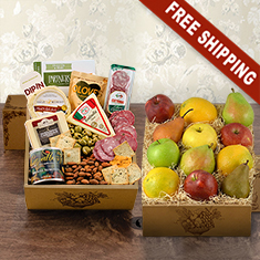 Fruit & Cheese Bonanza Double Decker Gift Box