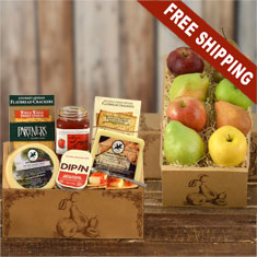 Fruit & Cheese Deluxe Double Decker Gift Box