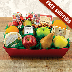 Fruit & Cheese Deluxe Gift Basket