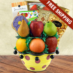 Fruit Basket Ceramic Centerpiece