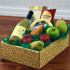 Fruit, Cheese & Sea Ridge Chardonnay Wine Gift Box