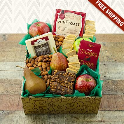 Fruit & Cheese Snacker's Gift Box