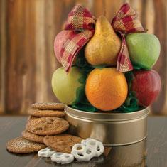 Fruit & Cookie Deluxe Gift Basket