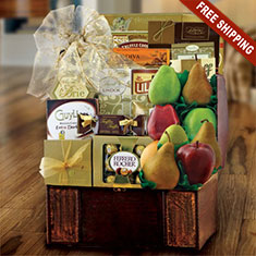 Fruitful Treasure Chest Gift Basket