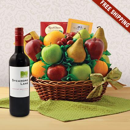 Garden Fresh Fruit and Cab Sauv Wine