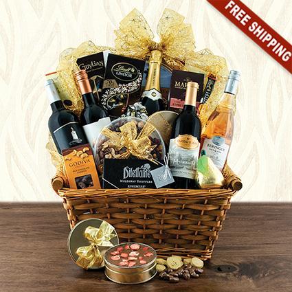 Giant Statement Wine & Champagne Gift Basket