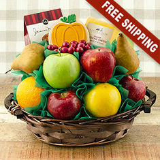Giving Thanks Fresh Fruit Gift Basket