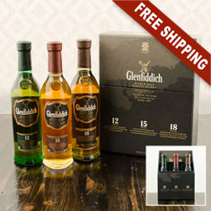 Glenfiddich Scotch Gift Set Trio