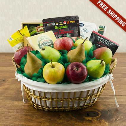 Good Choice Organic Fruit & Snax Gift Basket