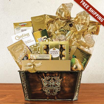 Gourmet Treasures Gift Basket