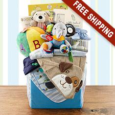 Grand Baby Boy Gift Basket