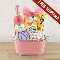 Happier Mother's Day Wine & Gourmet Gift Basket