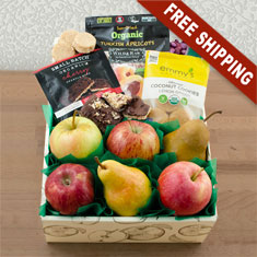Happy & Healthy Organic Fruit & Snax Gift Box