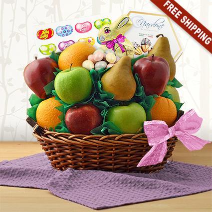 Happy Easter Fresh Fruit Gift Basket