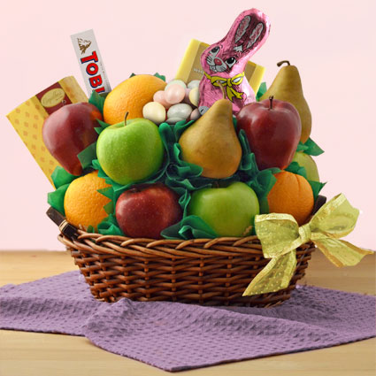 Happy Easter Fresh Fruit Gift Basket