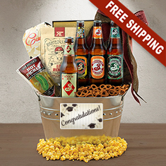 Happy Graduation Beer Gift Basket