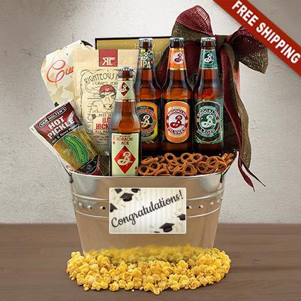 Happy Graduation Beer Gift Basket