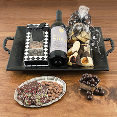Happy Purim Wine Tray