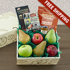 Happy Rosh Hashana Fruit & Snax Gift Box