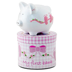 Her First Piggy Bank