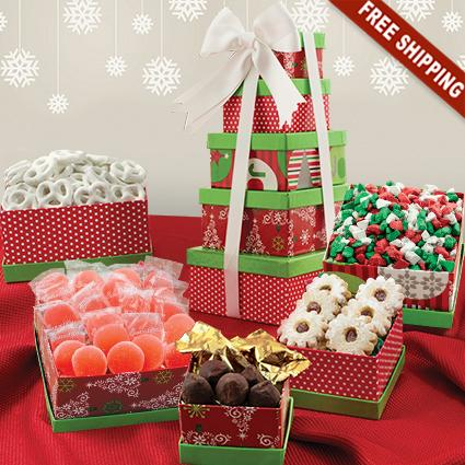 Holiday 5-Box Snack Tower Gift Set